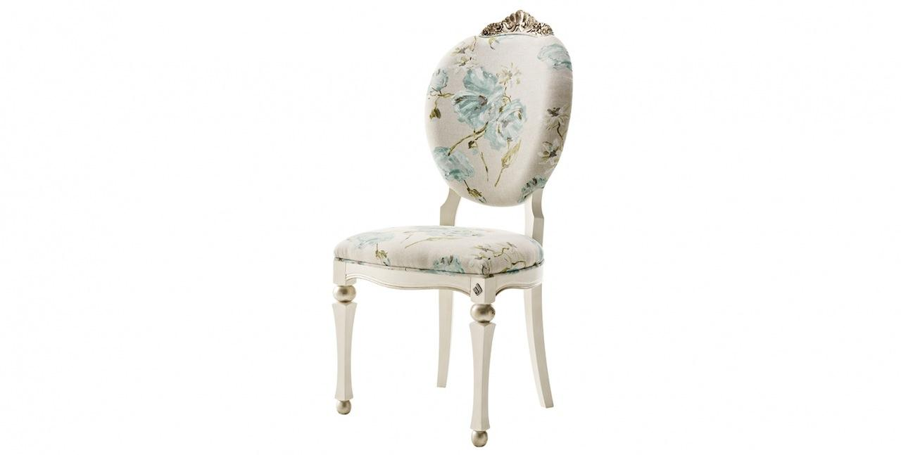 High In Design White Silver Leaf Floral Dining Chairs – Floral Dining Chairs